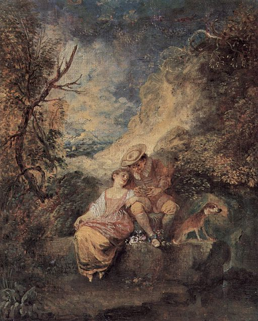 Antoine Watteau (1684-1721) - The hunter